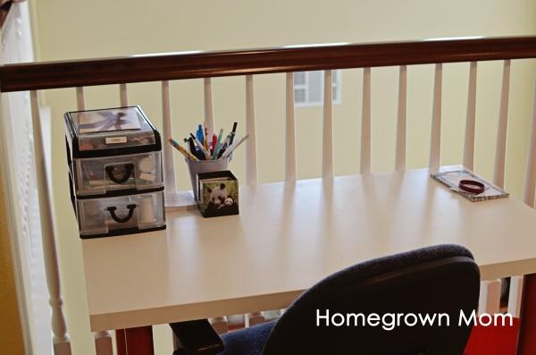 Homeschool Room C Desk